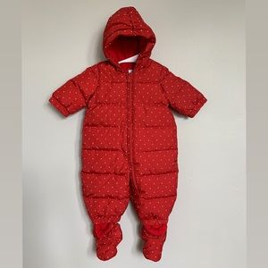 Baby Gap Snowsuit 0-6M  [BRAND NEW] Red Polka Dot